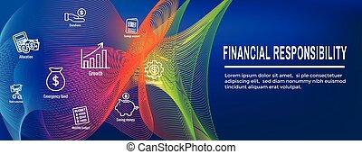personale, -, finanza, bandiera, responsabilità, &, set, web, icona, testata