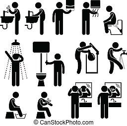 personale, gabinetto, igiene