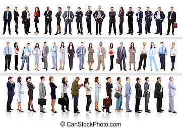 persone affari, -, giovane, attraente, squadra, elite