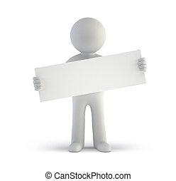 persone, -, asse, vuoto, piccolo, bianco, 3d