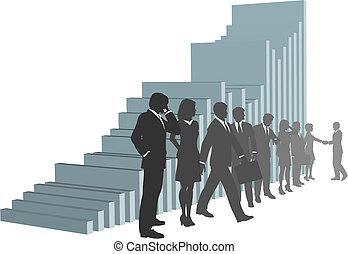 persone, crescita, squadra affari