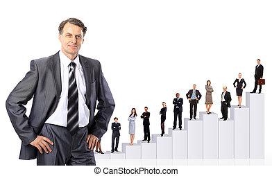 persone, diagram., squadra affari