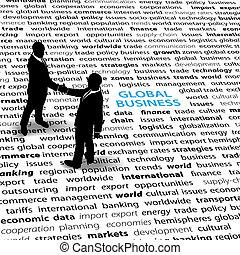 persone, economico, pagina, affari, globale, testo, edizioni