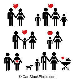 persone, famiglia, icone