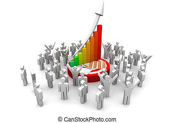persone, finanziario, 3d, affari