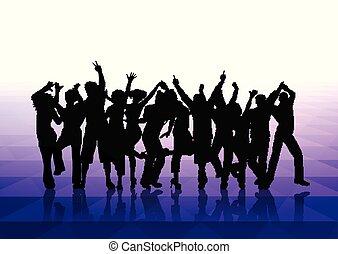 persone, fondo, 1302, ballo
