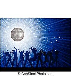 persone fondo, festa, discoteca