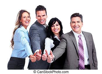 persone., gruppo, success., affari