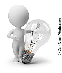 persone, là, -, idea, piccolo, 3d