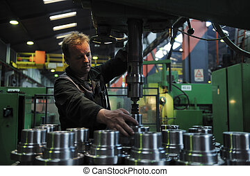 persone, lavorante, fabbrica, industria