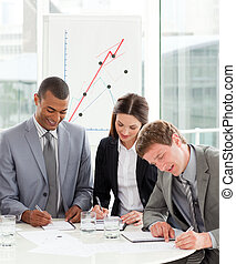 persone, lavorativo, affari, insieme, concentrati