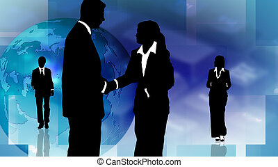 persone, lavoro squadra, affari, esposizione, gruppo