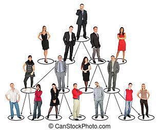 persone, livelli, differente, collage, presa, diverso, posizioni
