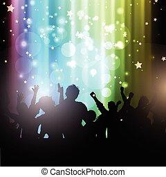 persone, luci, bokeh, fondo, festa, 2102