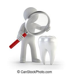 persone, lupe, -, dente, piccolo, 3d