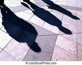 persone, ombre