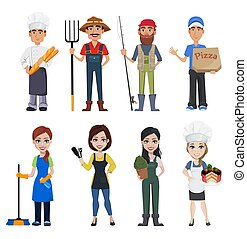 persone, professioni, differente