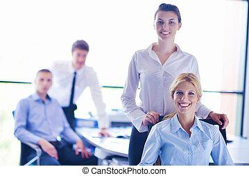 persone, riunione, affare, successo, gruppo, squadra affari, possedere, fare