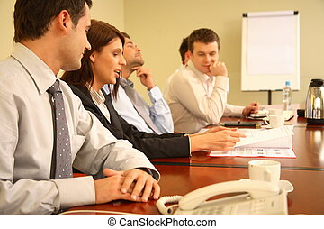 persone riunione, informale, affari
