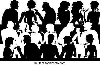 persone, silhouette, caffè