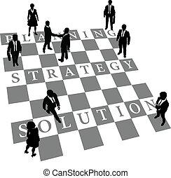 persone, soluzione, strategia, pianificazione, scacchi, umano