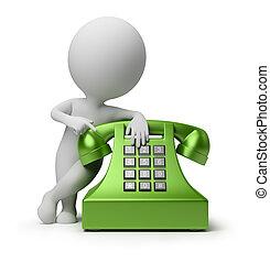 persone, -, telefonata, piccolo, 3d