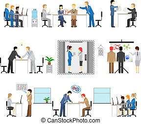 persone ufficio, lavorativo, illustrazioni