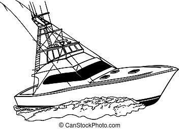 pesca sport, barca, costa