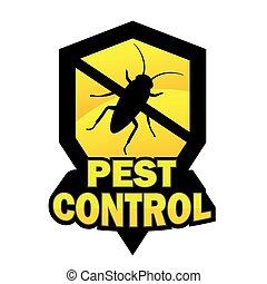 peste, logotipo, controllo