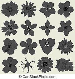 petalo, flora, fiore, icona