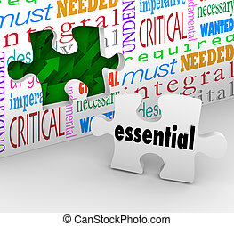 pezzo, necessario, riempe, puzzle, integrale, needed, buco, pungolare, essenziale