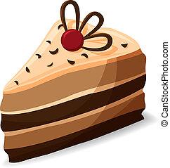pezzo torta, cartone animato