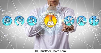 pharmacologist, identificare, terapeutico, sostanza