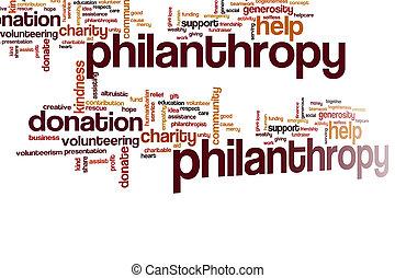 philantropy, nuvola, parola