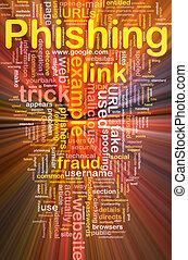 phishing, wordcloud, concetto, ardendo, fondo