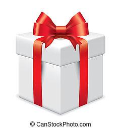 photo-realistic, scatola, vettore, regalo, illustrazione