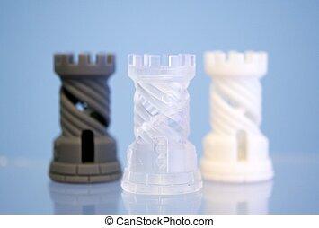 photopolymer, stampato, 3d, tre oggetti, printer.