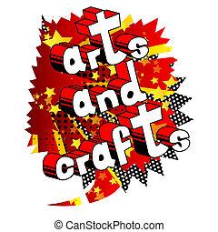 phrase., -, vettore, arti, comico, stile, arti, libro illustrato