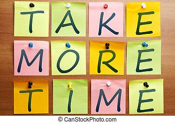più, prendere, tempo