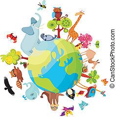 pianeta, animale