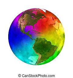 pianeta, arcobaleno, america, -, terra