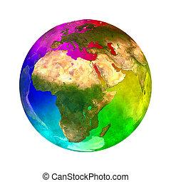 pianeta, arcobaleno, -, europa, terra