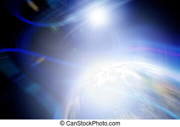 pianeta, astratto, fondale
