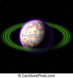 pianeta, astratto, struttura, generare, fondo