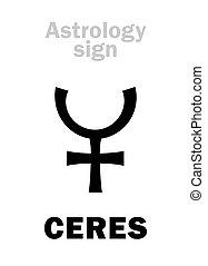 pianeta, astrology:, ceres, poco