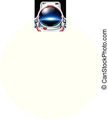 pianeta, astronauta, riflessione