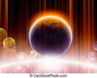 pianeta, baluginante
