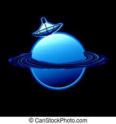 pianeta blu, satellite