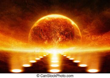 pianeta, che esplode