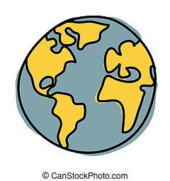 pianeta, credito, terra, (, cartoon., nasa), :